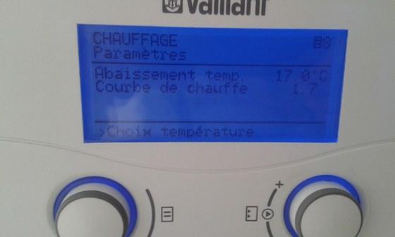 Thermostat d'ambiance permettant le controle de la courbe de chauffe