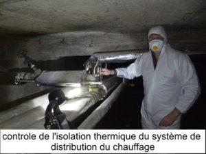 Controle de l'isolation thermique du système de distribution du chauffage en optimisation du système de chauffage