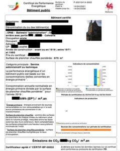 Exemple de certificat PEB batiment public