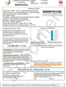 certificat peb des batiments publics dossier énergétique complet